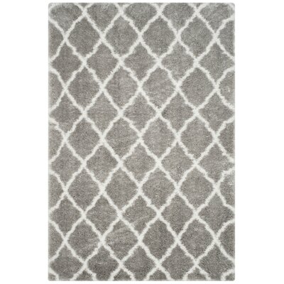 Bridgetown Gray/Ivory Area Rug Rug Size: Rectangle 6'7