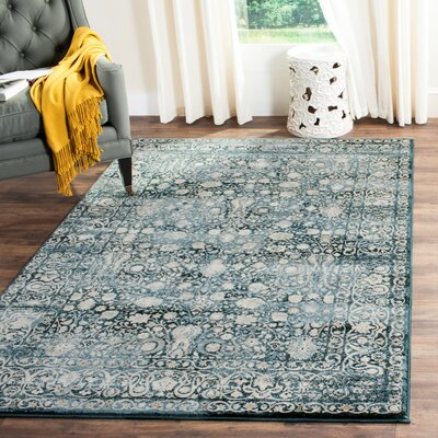 Bristol Point Blue/Ivory Area Rug Rug Size: 51 x 76