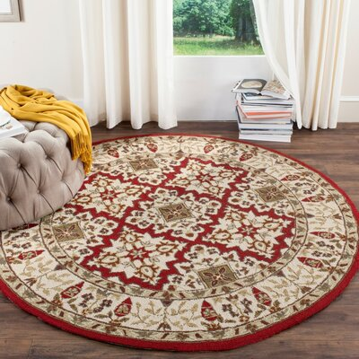 Broadcommon Hand-Hooked Ivory Area Rug Rug Size: Rectangle 6 x 9