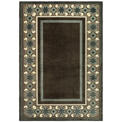 Taj Mahal Hand-Loomed Brown/Ivory Area Rug Rug Size: Rectangle 8 x 112