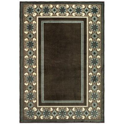 Taj Mahal Hand-Loomed Brown/Ivory Area Rug Rug Size: Rectangle 53 x 76