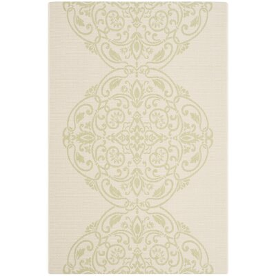 Topiary Signet Beige/Green Area Rug Rug Size: Rectangle 53 x 77