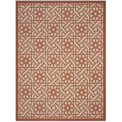 Triumph Cayenne Red/Gray Outdoor Area Rug Rug Size: Rectangle 67 x 96