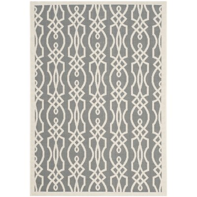 Villa Screen Beige/Gray Area Rug Rug Size: 67 x 96
