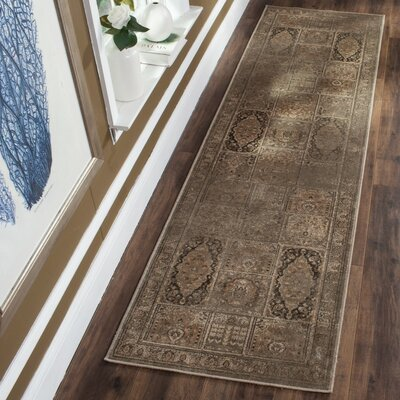 Vishnu Light Gray Area Rug Rug Size: Runner 25 x 76