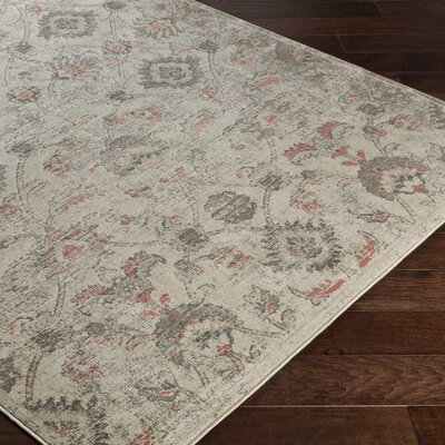 DeMastro Beige Area Rug Rug Size: Rectangle 52 x 76
