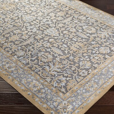 Brooks Farm Gray/Yellow Area Rug Rug Size: 2 x 3