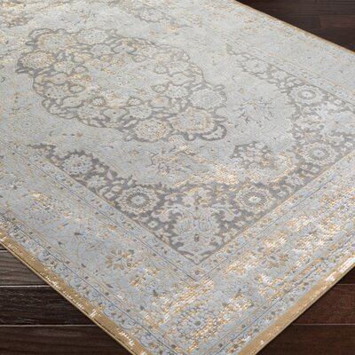 Brooks Farm Gray Area Rug Rug Size: Rectangle 5 x 76