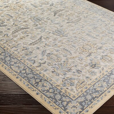 Brooks Farm Blue/Yellow Area Rug Rug Size: 2 x 3