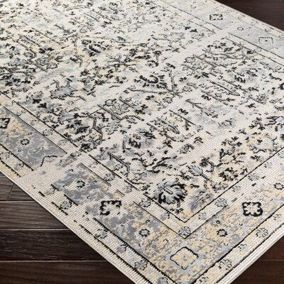 Brooks Farm Gray/Beige Area Rug Rug Size: Rectangle 5 x 76