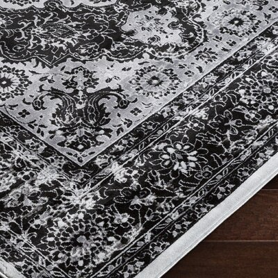 Brooks Farm Black Area Rug Rug Size: 2 x 3