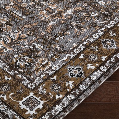 Brooks Farm Brown/Gray Area Rug Rug Size: Rectangle 2 x 3