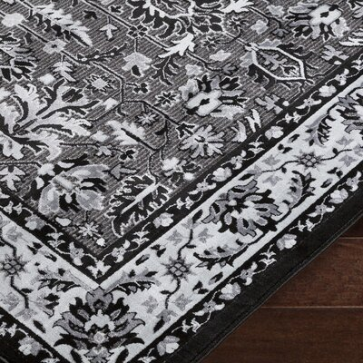 Brooks Farm Black/Gray Area Rug Rug Size: Rectangle 5 x 76