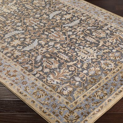 Brooks Farm Beige/Gray Area Rug Rug Size: 5 x 76