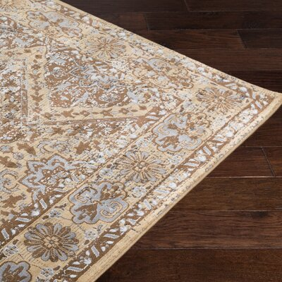Brooks Farm Beige/Brown Area Rug Rug Size: 5 x 76