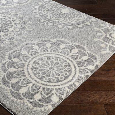 Gravesham Gray Area Rug Rug Size: Rectangle 53 x 76