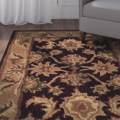 Bromley Dark Plum/Gold Rug Rug Size: Rectangle 6 x 9