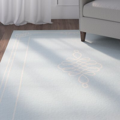 Octavius Soft Blue/Cream Indoor/Outdoor Rug Rug Size: Rectangle 53 x 77