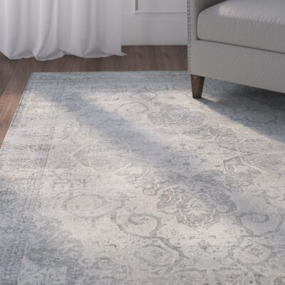 Frith Silver Area Rug Rug Size: 53 x 76