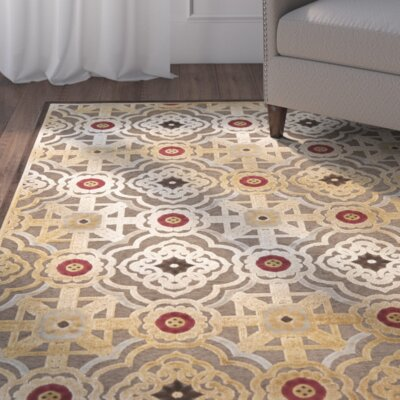 Imperial Palace Brown/Red Area Rug Rug Size: Rectangle 33 x 57