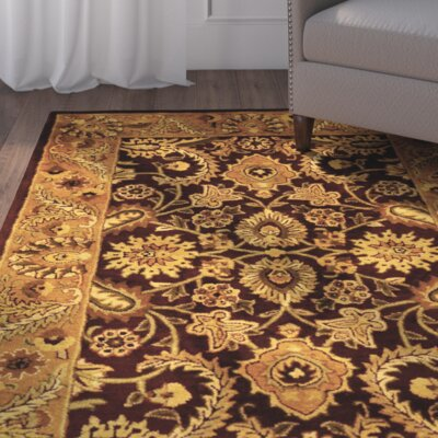 Bromley Burgundy/Gold Rug Rug Size: Rectangle 83 x 11