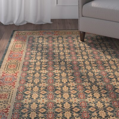 Froehlich Light Blue/Red Area Rug