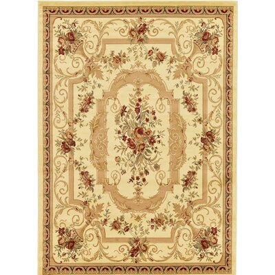 Crainville Beige/Red Area Rug