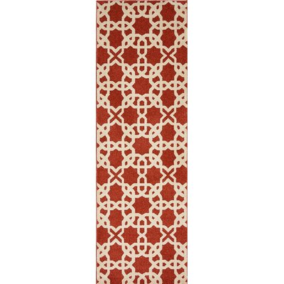 Coughlan Red/Beige Area Rug Rug Size: 5 x 8