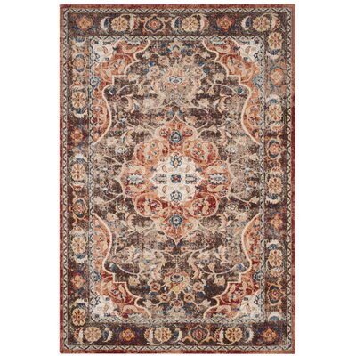 Broomhedge Brown/Rust Area Rug Rug Size: Rectangle 53 x 76