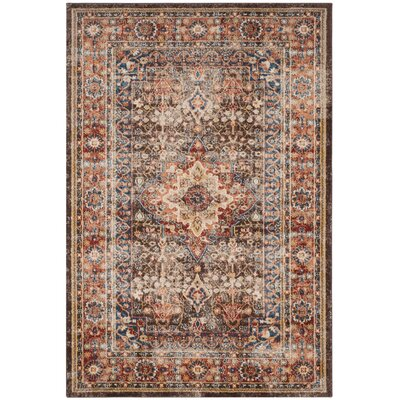 Broomhedge Brown/Rust Area Rug Rug Size: 53 x 76