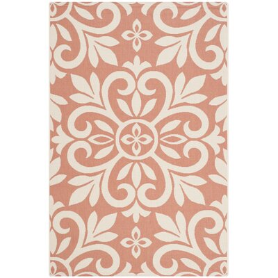 Bloomfield Cinnamon/White Area Rug Rug Size: Rectangle 27 x 5