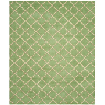 Petal Hand-Tufted Green Area Rug Rug Size: Runner 23 x 7
