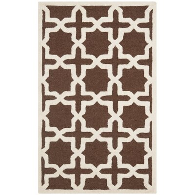Brunswick Wool Brown/Ivory Area Rug Rug Size: Rectangle 3 x 5