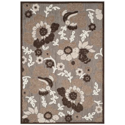 Bryan Light Brown/Brown Area Rug Rug Size: 9 x 12