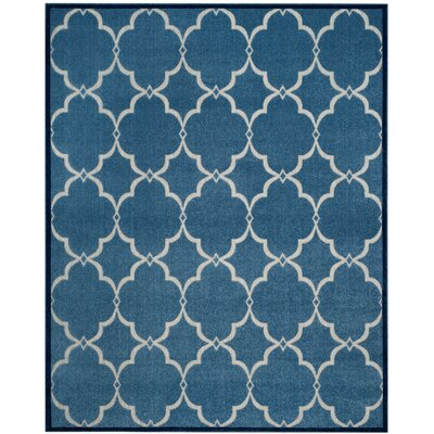 Bryan Blue/Cream Indoor/Outdoor Area Rug Rug Size: 4 x 6