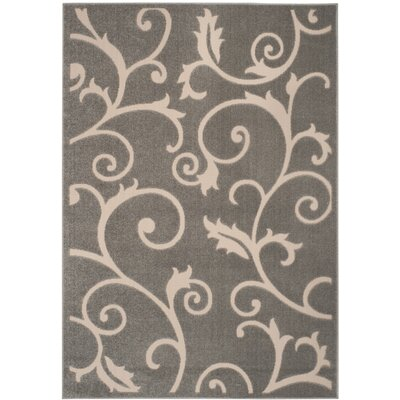 Bryan Gray/Cream Area Rug Rug Size: 3'3