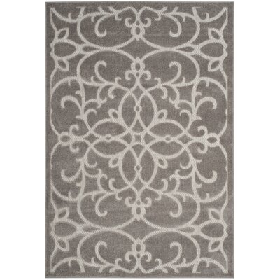Bryan Gray/Light Gray Indoor/Outdoor Area Rug Rug Size: 67 x 96