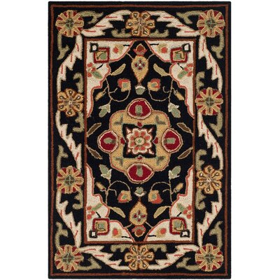 Bryonhall Hand Hooked Area Rug Rug Size: Rectangle 3 x 5