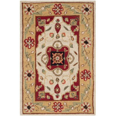 Bryonhall Hand Hooked Area Rug Rug Size: Rectangle 4 x 6