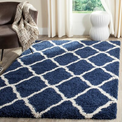 Buford Navy/Ivory Area Rug Rug Size: Rectangle 9 x 12