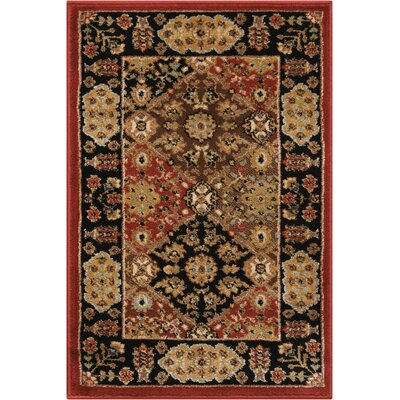 Ravens Brown/Black Area Rug Rug Size: Rectangle 2 x 3