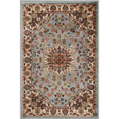 Ravens Blue/Ivory Area Rug Rug Size: Rectangle 2 x 3
