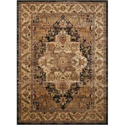 Ravens Black/Ivory Area Rug Rug Size: Rectangle 311 x 511