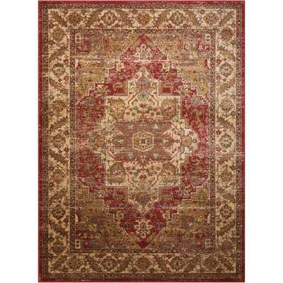 Ravens Brick/Ivory Area Rug Rug Size: Rectangle 53 x 73