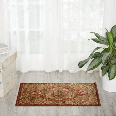 Ravens Brick/Ivory Area Rug Rug Size: Rectangle 2 x 3