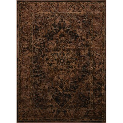 Ravens Espresso Area Rug Rug Size: Rectangle 53 x 73