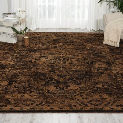 Ravens Espresso Area Rug Rug Size: Rectangle 67 x 96