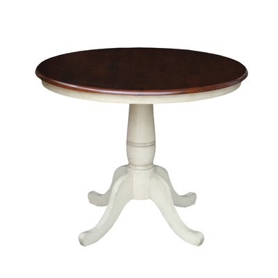 Doylan Dining Table Size: 36, Finish: Espresso / Antique Almond