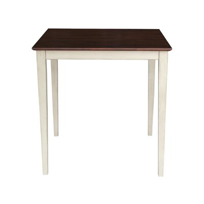 Geneseo Counter Height Pub Table Color: Antiqued Almond / Espresso, Tabletop Size: 36