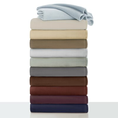 Rasmussen Plush Blanket Size: Twin, Color: Cream